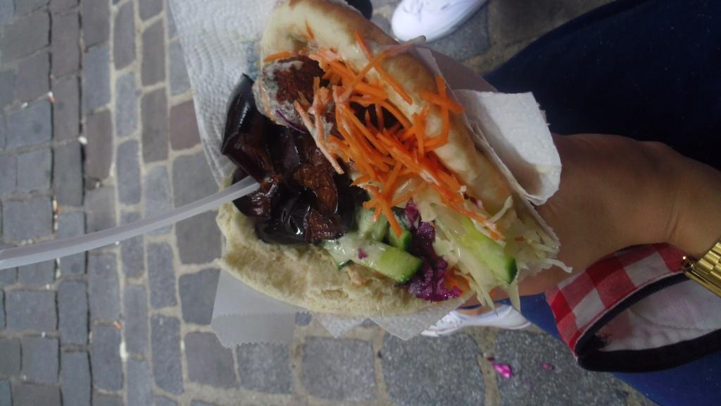Falafel végétarien de L'As du fallafel à Paris.