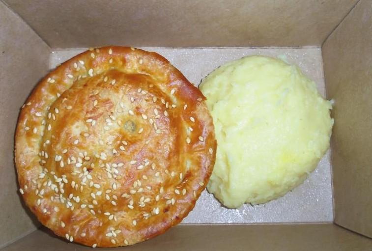 Pie végétarienne de chez Pieminister à Londres.