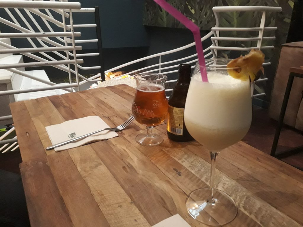 Pina colada au Guama café à Lille.
