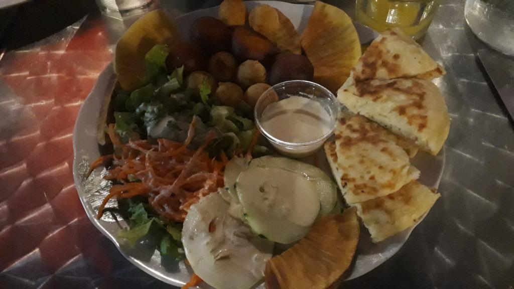 assiette végétarienne Boboka Mayotte